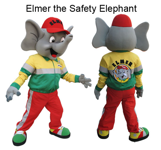 Elmer  sc 1 st  Maydwell Mascots & Elephant Mascot Elmer the Safety Elephant | Maydwell Mascots