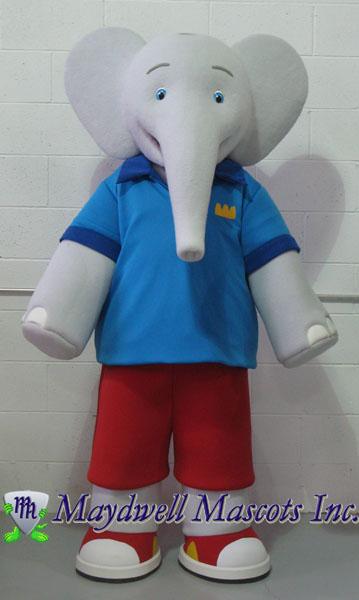 Elephant Mascot Babar Badou Maydwell Mascots
