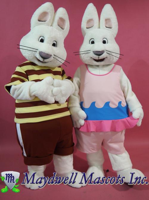 Max And Ruby Mascot Maydwell Mascots