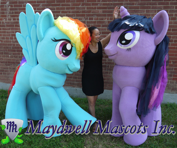 My Little Pony Mascot Rainbow Dash And Twilight Sparkle