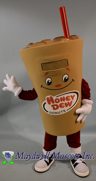 honey dew donut mascot