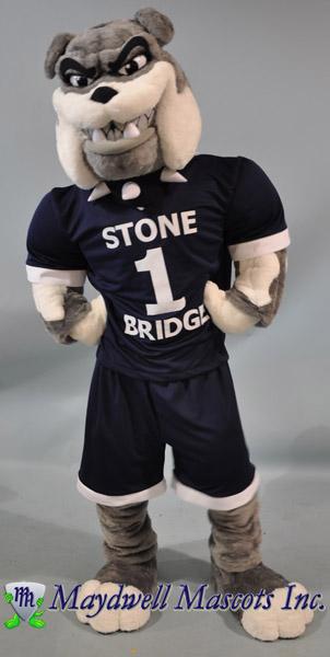 Dog Bulldog Stone Bridge