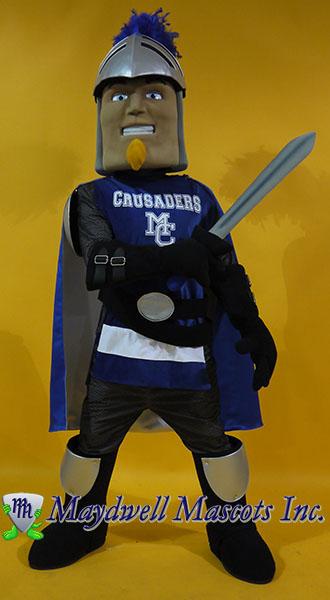 knight mascot, crusader mascot
