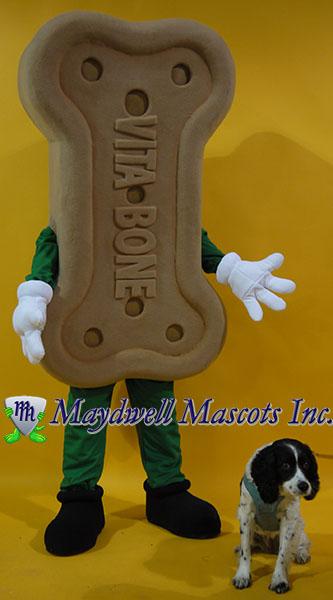 bone mascot, dog mascot